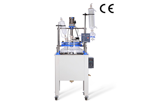 Process Glass Reactor with Water Bath 100L